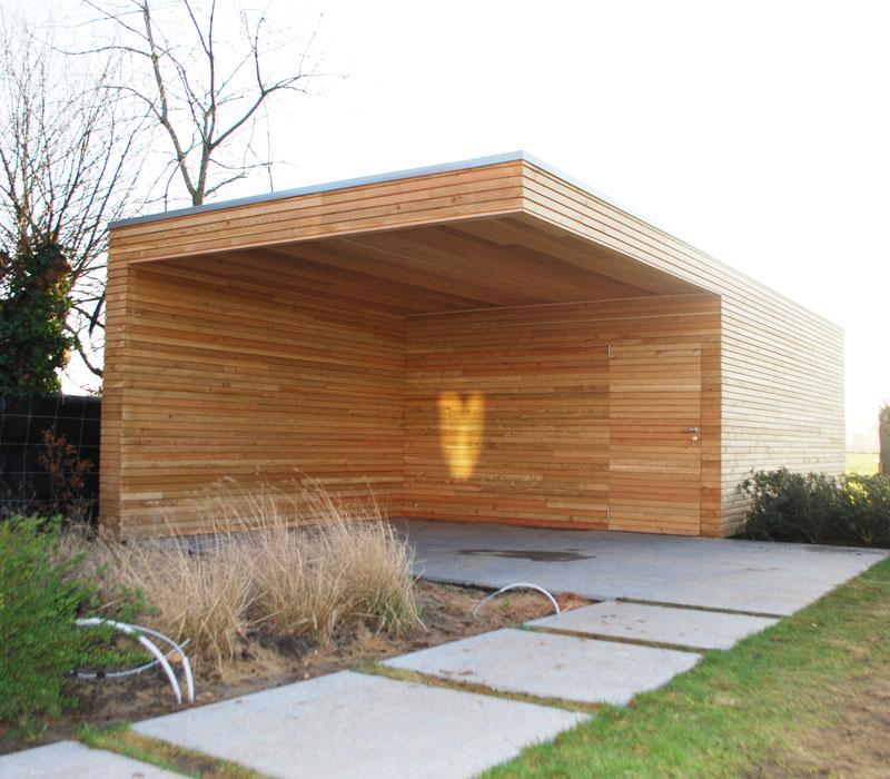 Bijgebouwen houtatelier for Bijgebouw tuin